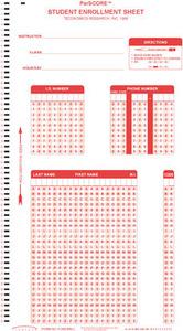 ParScore Student Enrollment Sheet - F-288-PAR-L Form 10pc-pkg