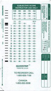 """Scantron 815-E Form - """"QuizStrip"""""""